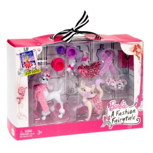 Barbie A FASHION FAIRYTALE PETS DOG & CAT SET NEW