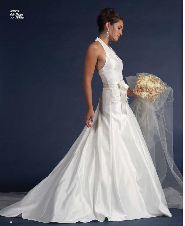 JESSICA McCLINTOCK Beige Wedding Dress Gown NWT Size 2