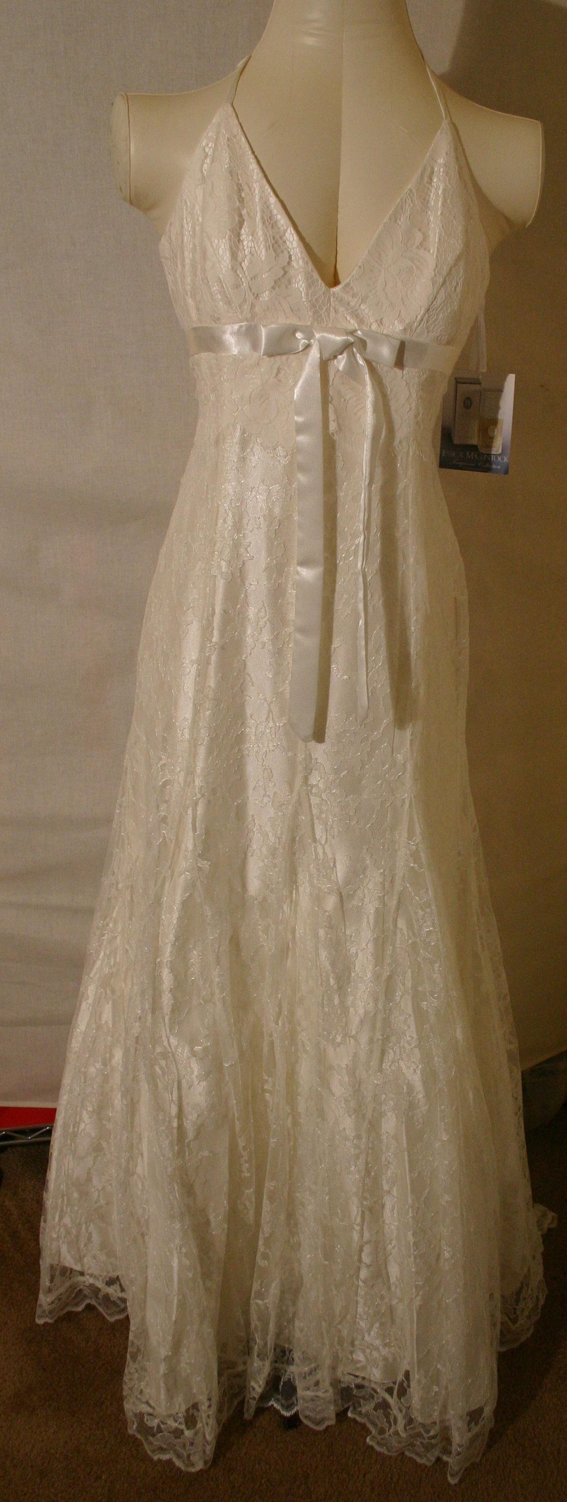 JESSICA McCLINTOCK Beige Dress Gown NWT Size 4 6 8 10